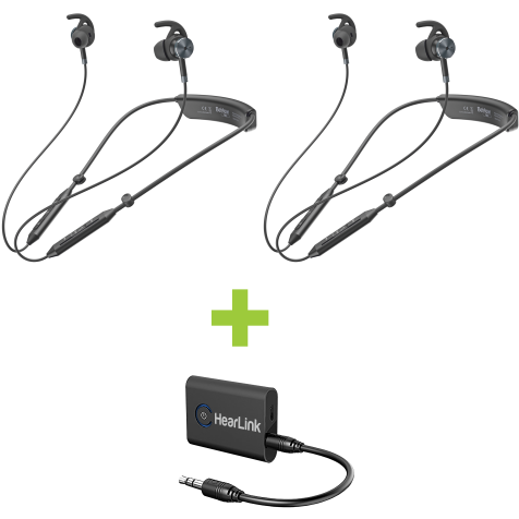 Harmony Bundle: 2 BeHear NOW headsets and HearLink Transmitter