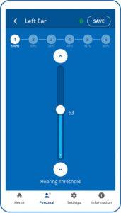 Built-in hearing assessment in W&H BeHear app
