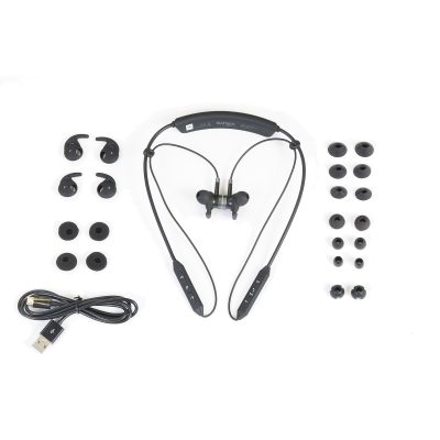 The BeHear NOW headset is provided with silicone ear buds and tips in a wide variety of styles and sizes.