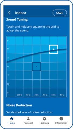 Sound tuning best sound point grid