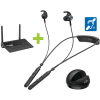 BeHear ACCESS assistive hearing headset with audio transmitter and charging cradle