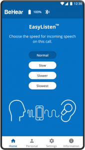 EasyListen slows down speech to improve intelligibility