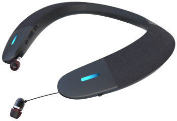 BeHear PROXY personalized neck speaker with retractable ear buds