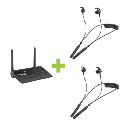 Harmony Bundle Plus - Two BeHear ACCESS headsets and one HearLink PLUS transmitter