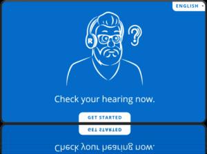 Express hearing check sample screen