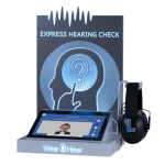 express hearing check kiosk by Wear & Hear