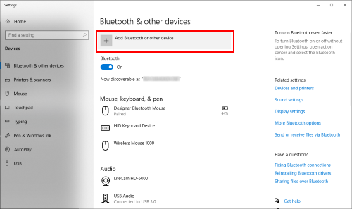Add a Bluetooth device on Windows PC - part 1