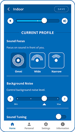 Sound Focus directionality in BeHear